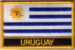 Uruguay Embroidered Flag Patch, style 09.